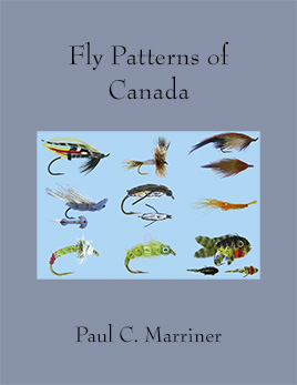 Cover of Fly Patterns of Canada which includes a collage of nine fly patterns.