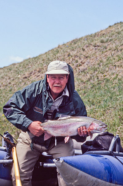 image of paul c marriner with rainbow trout